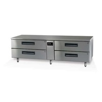 Skope Lowline Chiller 4 Draw Stainless Steel Workbench, 2/1 GN Pegasus, remote only-1800x700x520mm high (+feet or castors)