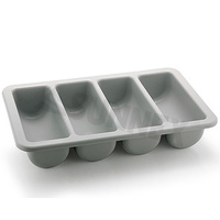Cutlery Holder 4-Compartment Grey