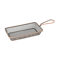 190x100mm Antique Copper Service Basket Rectangle