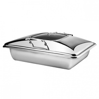 Athena Princess Rectangular Induction Chafer With Glass and Stainless Lid