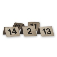 1-10 S/S Table Numbers A Frame 50x50mm