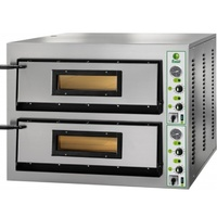 Wide Model Fimar Electric Twin Deck Pizza Oven - 6 Pizzas @ 350mm per deck, 1370 wide x 850 Deep x 750mm high, 215kg