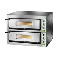 Fimar Electric Twin Deck Pizza Oven - 6 Pizzas @ 350mm per deck, 1010 wide x 1210 Deep x 750mm high, 200kg