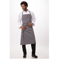 Adjustable English Chef Apron No Pocket Grey/White - A100-GWS Chef Works