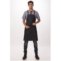Berkeley Bib Apron Indigo/Blue Denim with Cross Over Back