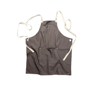 Byron Canvas Cross Over Back Grey Bib Apron