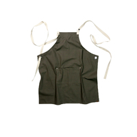 Byron Canvas Cross Over Back Khaki Bib Apron