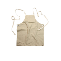 Byron Canvas Cross Over Back Natural Bib Apron