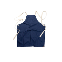 Byron Canvas Cross Over Back Navy Blue Bib Apron