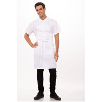 Apron Bib No Pocket White-Chef Works APKDC