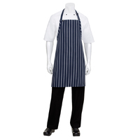 Navy/White Striped Bib Apron No Pocket-APKNW Chef Works