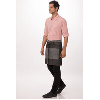 Manhattan 1/2 Waist Apron with Pocket Black/Denim - AW046-BLK Chef Works