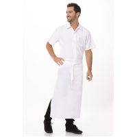 3/4 No Pocket Waist Apron White - 70 x 90 cm -Chef Works B3-WHT