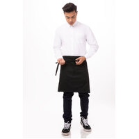 50 x 90 Apron Waist Black Pocket - F28-BLK Chef Works