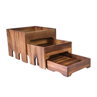 3 Tier Nesting Riser Set, Wooden -Moda