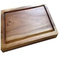 380 x 275 x 25mm Rectangular Chopping Board with Groove - Acacia Wood
