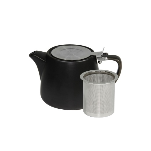 Teapot 500ml with infuser Stackable- Matt Smoke/White- Brew