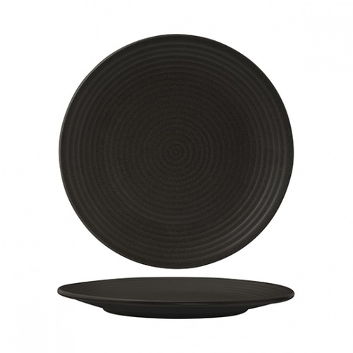 300mm Ribbed Coupe Plate - Charcoal
