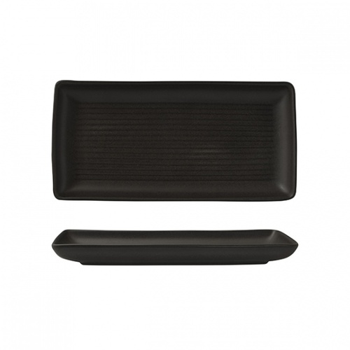250mm Rectangular Platter Charcoal