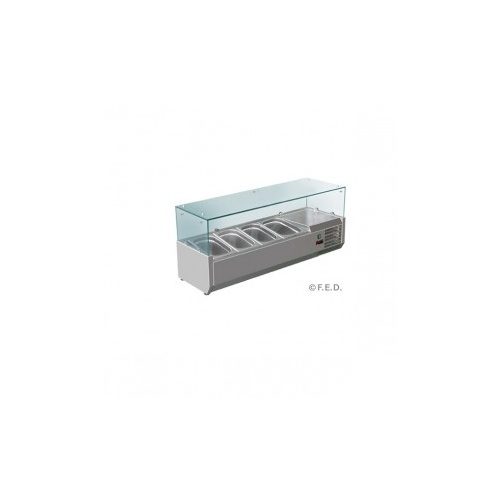 1200 Chilled Stainless Steel Ingredient Prep Top Unit - 4 x 1/3 GN pans