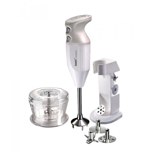 Bamix Deluxe 180w, White Grinder, Bench Stand Overall 32cm Long