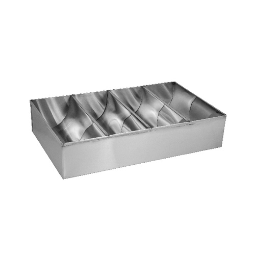 Four Compartment Stainless Steel Cutlery Box