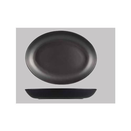 275 x 205mm Black Oval Coupe Bowl -Brighton from Longfine