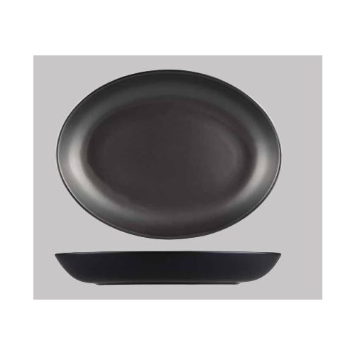 320 x 245mm Black Oval Coupe Bowl -Brighton from Longfine