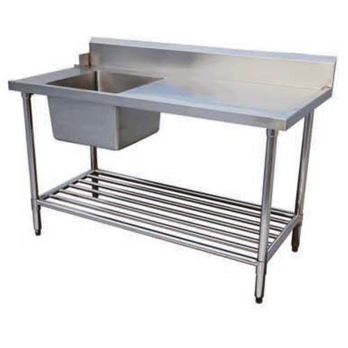 Dishwasher Inlet Bench (Left Side) With Sink - 1800x700x900mmH