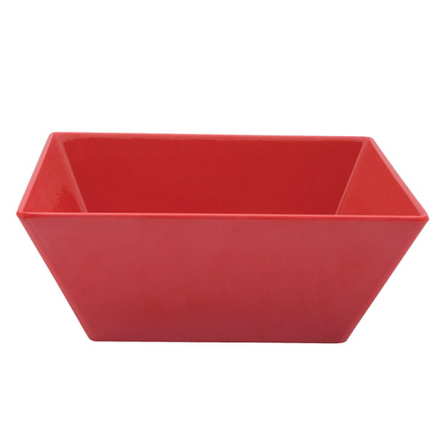 300 x 300 x 115mmH Red Square Bowl Melamine