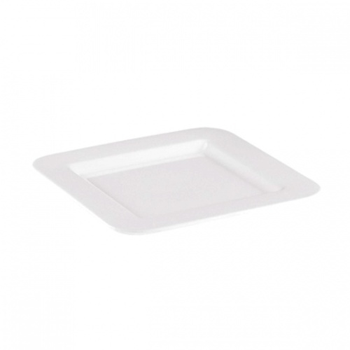 185 x 185mm Square White Plate - Melamine