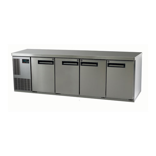 SKOPE PEGASUS UNDER COUNTER INTERGAL S/S CHILLER, 4 DOOR, 560 Litre, 2267mm LONG X 716mm HIGH (PLUS FEET OR WHEELS)  X 680mm DEEP, HINGED S/S DOOR