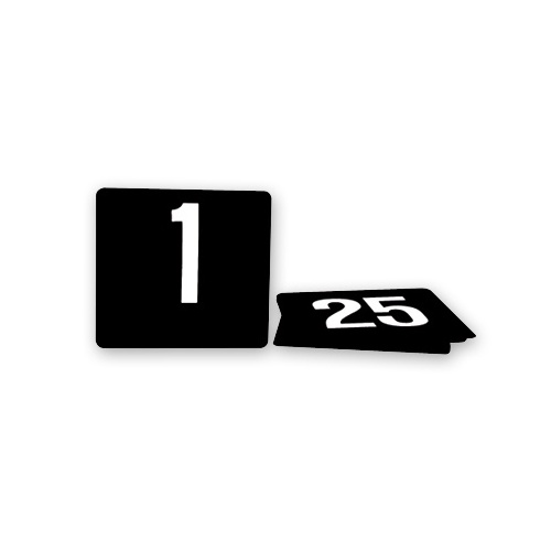 1-50 Black Table Numbers