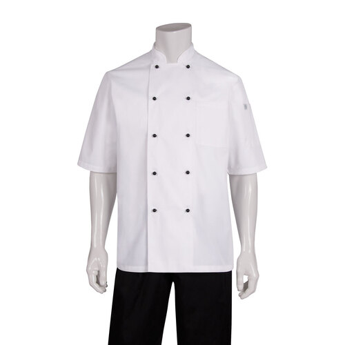 Macquarie Chefs Jacket 2XL Short sleeve, White - MBSS Chef Works