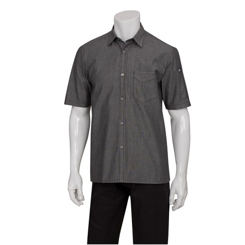 Unisex Detroit Denim Short Sleeve Shirt (Size, Colour) Chef Works