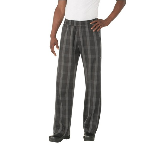 Better Built Baggy Pants Black Plaid Medium - BPLD-BLK-M Chef Works