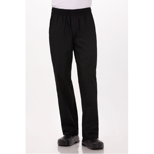Light Weight Basic Baggy Pant Black (Size) - BBLW-BLK-(size)