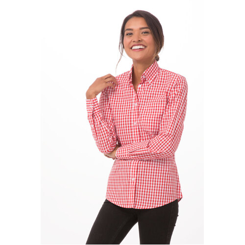 Womens Gingham Dress Shirt (size & colour to confirm) - W500 (BWC, BWK, WRC) Chef Works