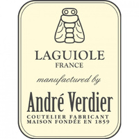 Brass Bolsters Steak Knife Block 6 Piece, Andre Verdier Laguiole