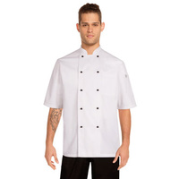 Macquarie Chefs Jacket Large Short sleeve, White - MBSS Chef Works