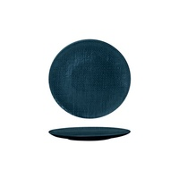 180mm Coupe Plate Linen - Navy Blue