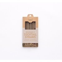 Cocktail S/S Reusable Straw (6 pack incl brush)