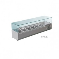 1500 Chilled Stainless Steel Ingredient Prep Top Unit - 6 x 1/3 GN pans