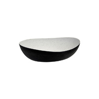 348 x 270mm Oval Bowl, Stone Natural/Black, Cheforward