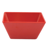 180 x 180 x 85mmH Red Square Bowl - Melamine