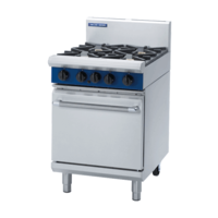 Blue Seal G504B Gas Static Oven With Grill Plate - 600mm Wide