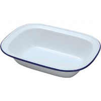 180mm Enamel Rectangle Dish