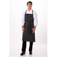 Adjustable English Chef Apron No Pocket  Black - A100-BCS Chef Works