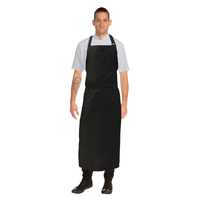 Apron Bib Extra Large Black No Pocket  - A111-BLK Chef Works