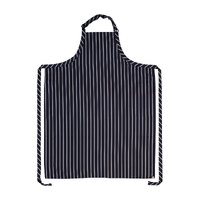 Apron Bib Extra Large Navy/White Stripe No Pocket - A111-BLK Chef Works